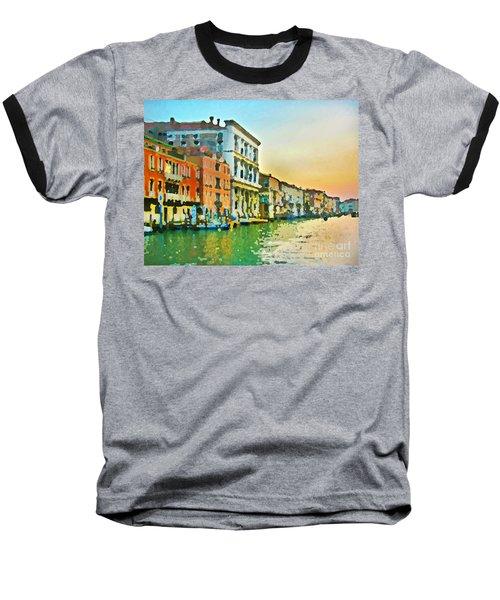 Canal Sunset - Venice Baseball T-Shirt