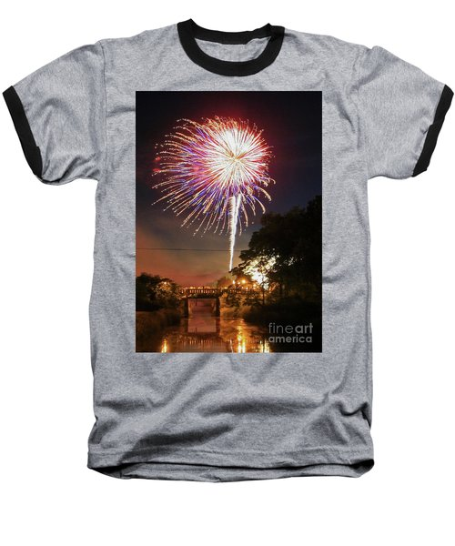 Canal View Of Fire Works Baseball T-Shirt