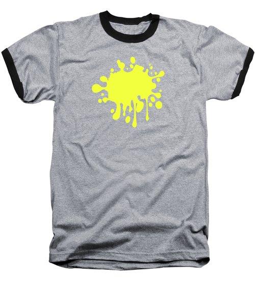 Canary Yellow Solid Color Decor Baseball T-Shirt by Garaga Designs