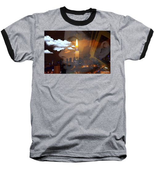 Candle Flame Baseball T-Shirt