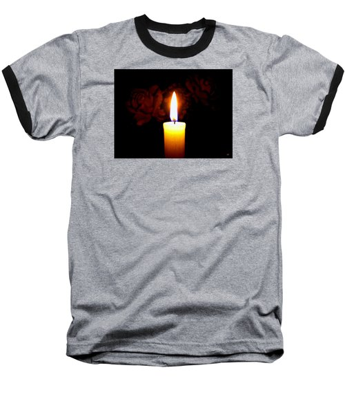 Candlelight And Roses Baseball T-Shirt by Will Borden