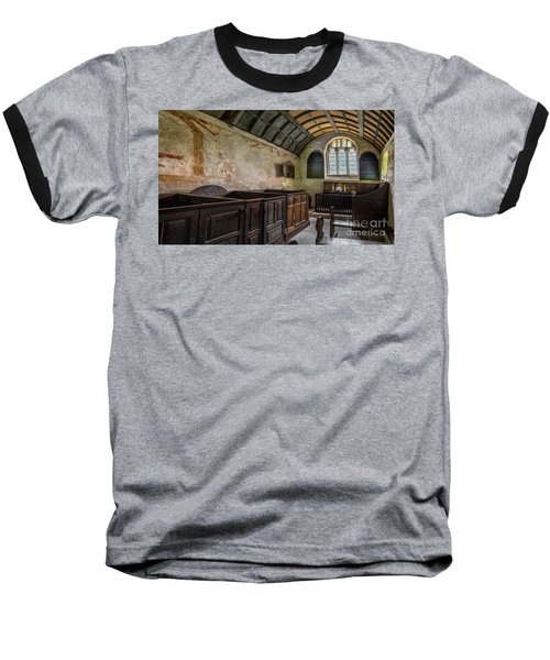 Baseball T-Shirt featuring the photograph Candles In Old Church by Adrian Evans