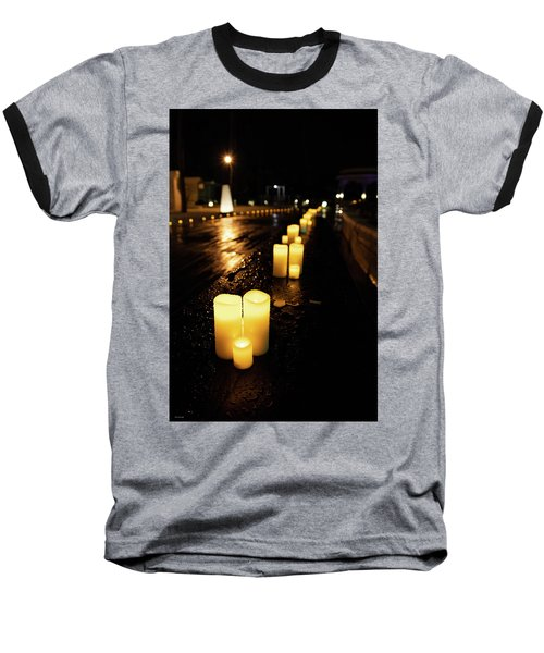 Candles On The Beach Baseball T-Shirt