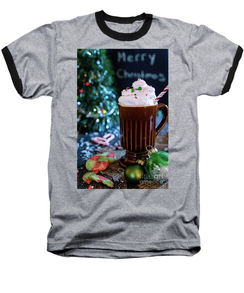 Baseball T-Shirt featuring the photograph Candy Cane Twist by Deborah Klubertanz