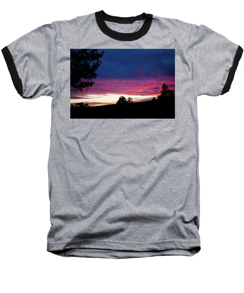 Candy-coated Clouds Baseball T-Shirt by Jason Coward