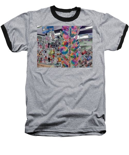 Candy Store Baseball T-Shirt by Kathie Chicoine