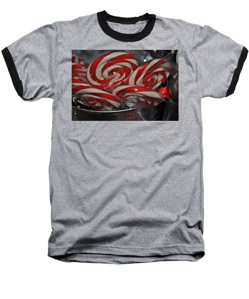 Candycane Lolli Baseball T-Shirt