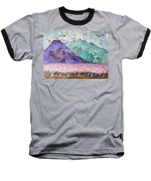Canigou With Blooming Peach Trees Baseball T-Shirt