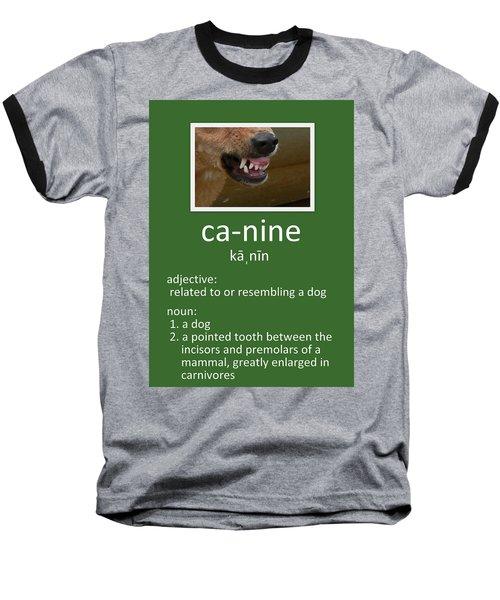 Canine Poster Baseball T-Shirt