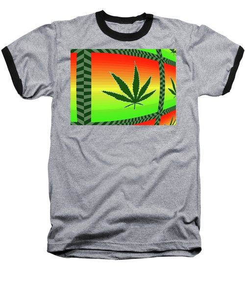 Baseball T-Shirt featuring the mixed media Cannabis  by Dan Sproul