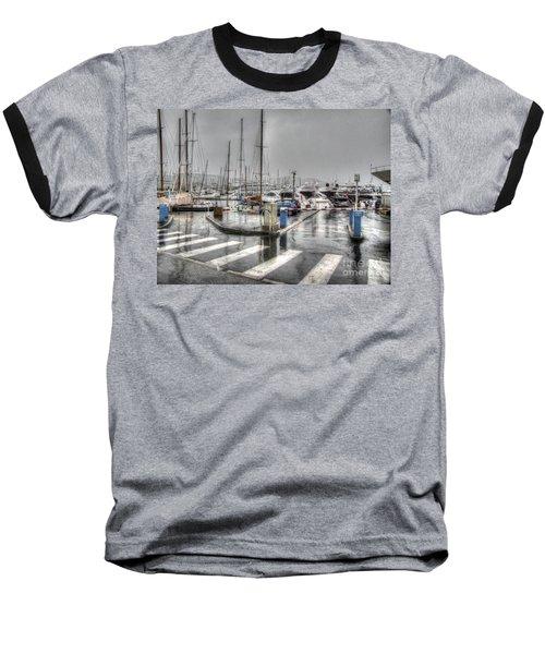 Cannes Street Rain Baseball T-Shirt