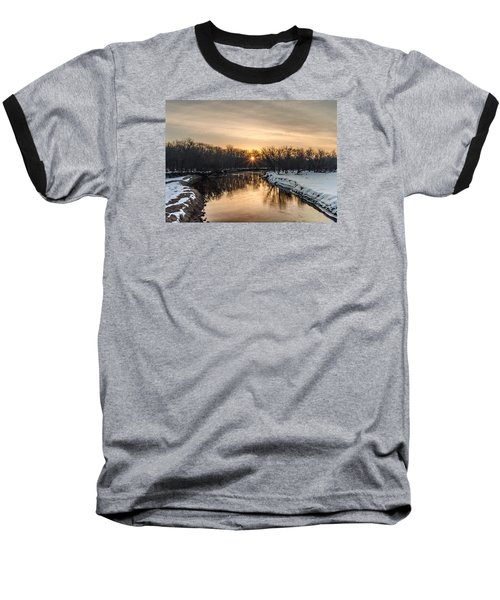 Baseball T-Shirt featuring the photograph Cannon River Sunrise by Dan Traun