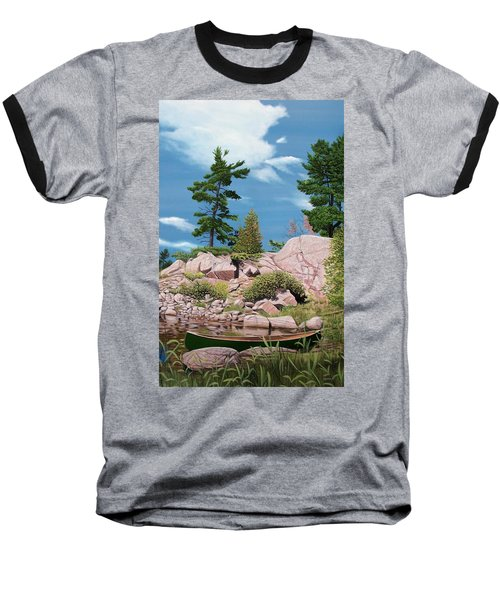 Canoe Among The Rocks Baseball T-Shirt