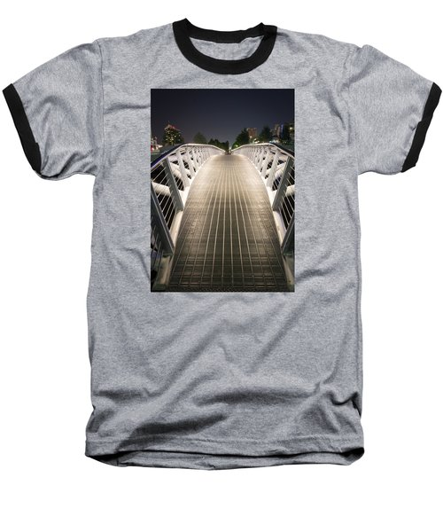 Canoe Bridge  Baseball T-Shirt by Sabine Edrissi