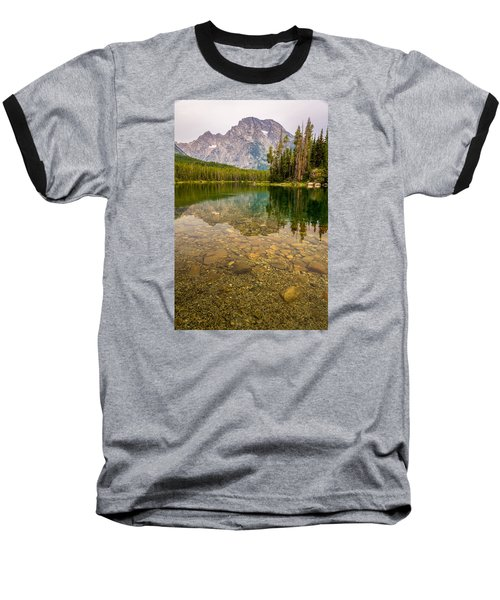 Baseball T-Shirt featuring the photograph Canoe Camping In The Teton Range by Serge Skiba