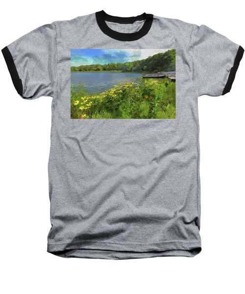 Canoe Number 9 Baseball T-Shirt by Cedric Hampton