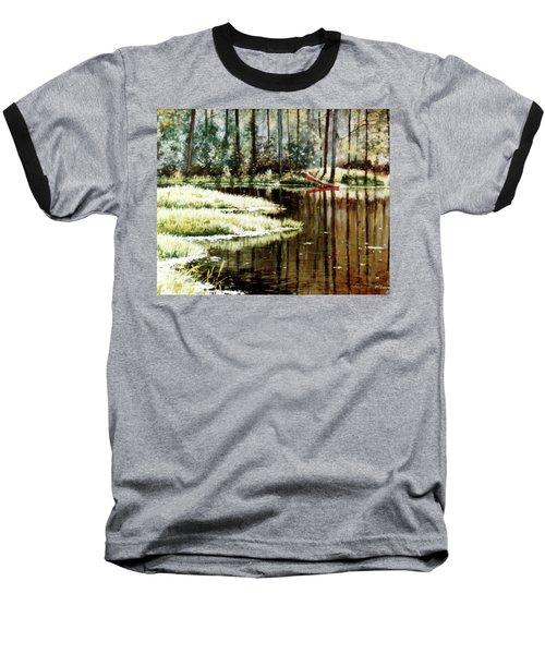 Canoe On Pond Baseball T-Shirt