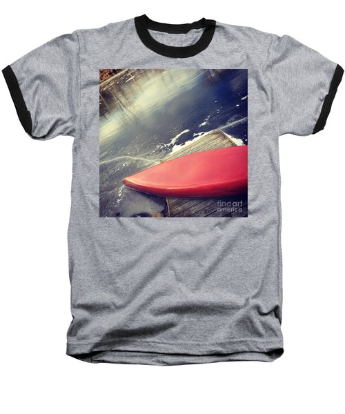 Canoe Say Winter Is Here Baseball T-Shirt by Jason Nicholas