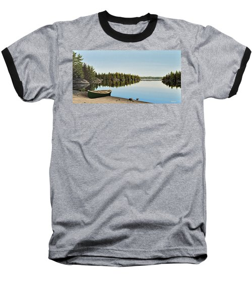 Canoe The Massassauga Baseball T-Shirt by Kenneth M  Kirsch