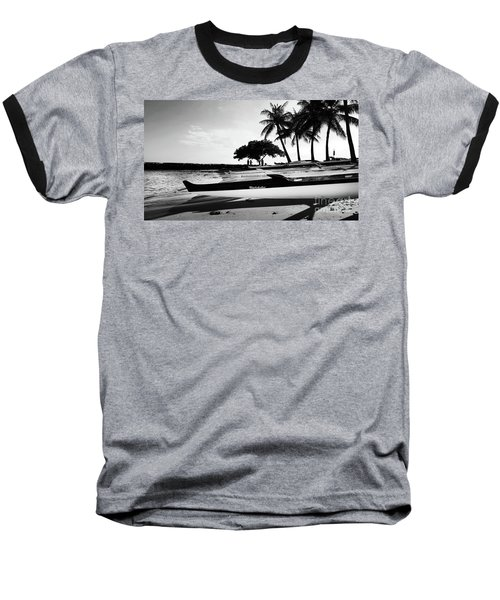 Canoes Baseball T-Shirt by Kristine Merc