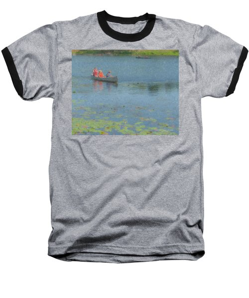 Canoes On Shovelshop Pond Baseball T-Shirt