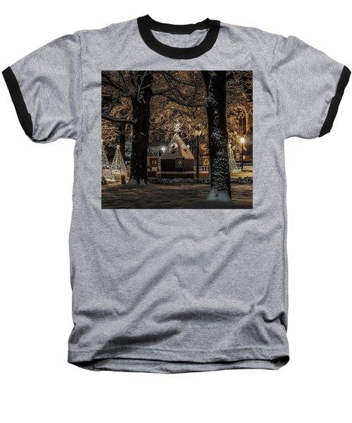 Canopy Of Christmas Lights Baseball T-Shirt