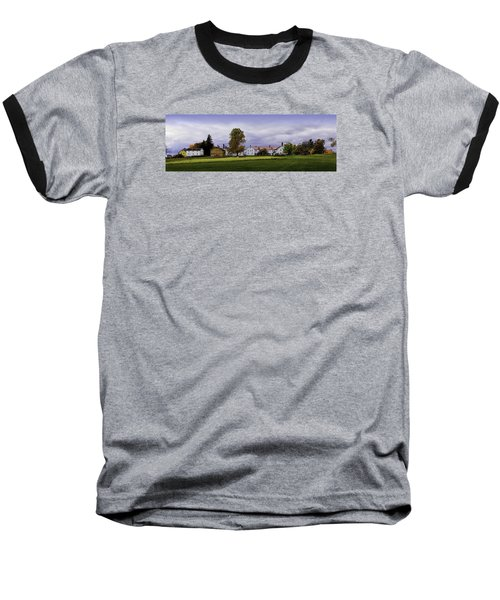 Canterbury Shaker Village Nh Baseball T-Shirt by Betty Denise