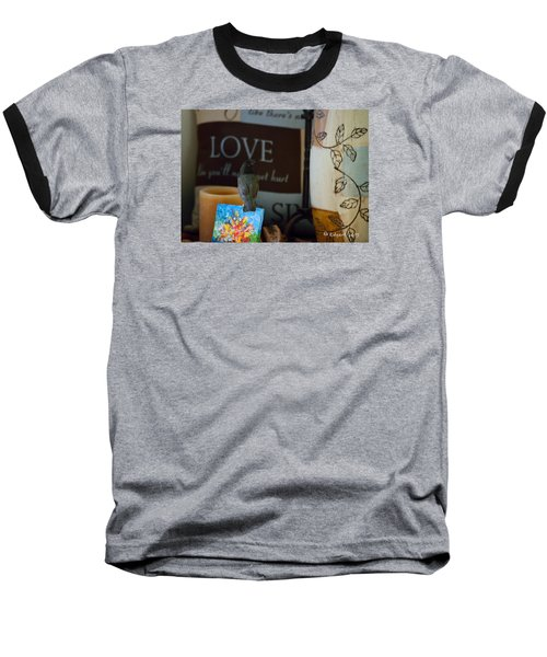 Canto De Amor... Baseball T-Shirt by Edgar Torres