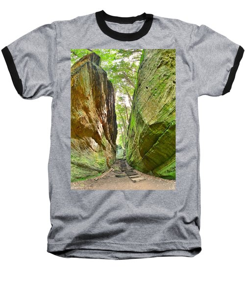 Cantwell Cliffs Trail Hocking Hills Ohio Baseball T-Shirt