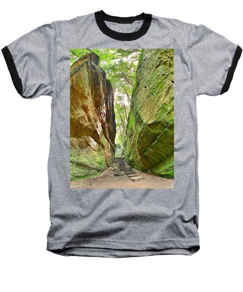Cantwell Cliffs Trail Hocking Hills Ohio Baseball T-Shirt