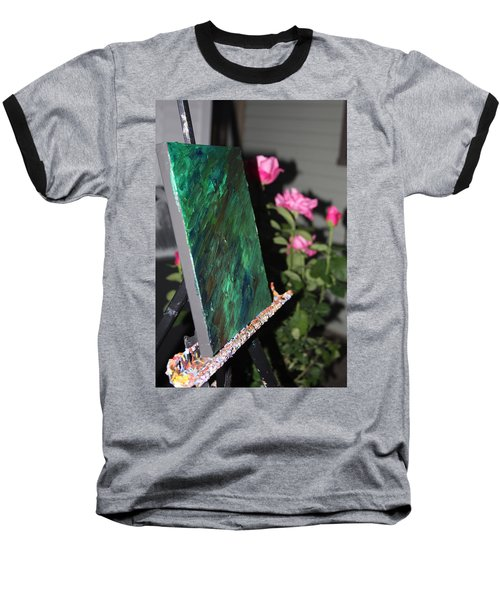Baseball T-Shirt featuring the photograph Canvas And Roses by Vadim Levin