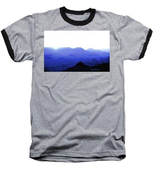 Canyon In Blue Baseball T-Shirt