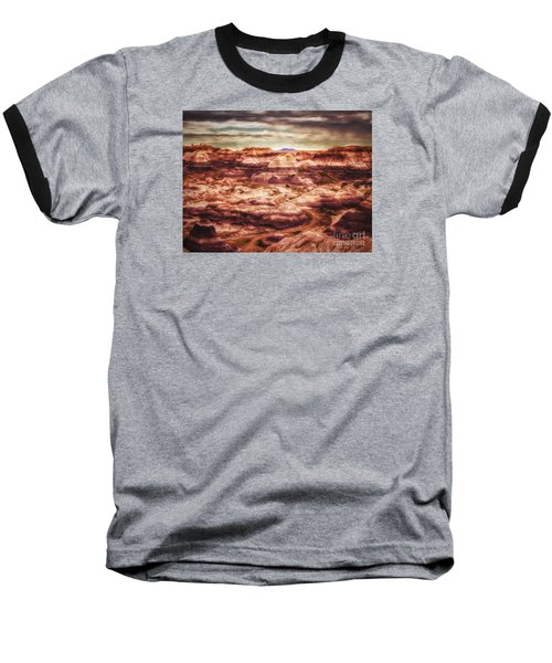 Canyon In The Painted Desert  ... Baseball T-Shirt by Chuck Caramella