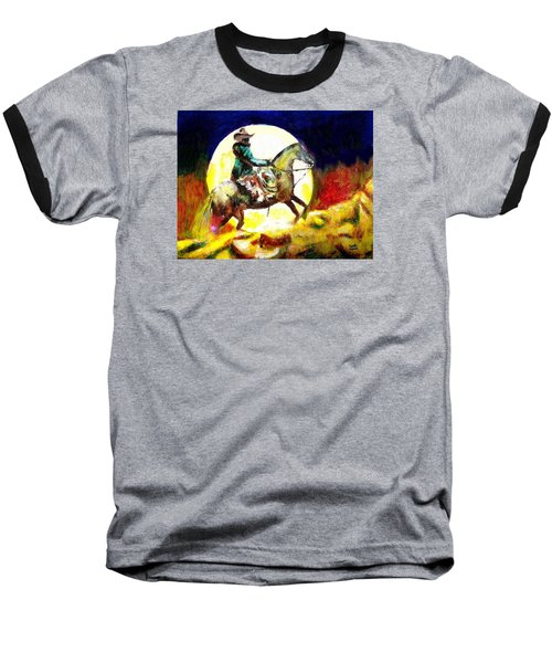 Baseball T-Shirt featuring the painting Canyon Moon by Seth Weaver