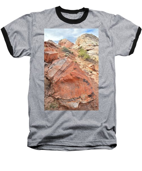 Canyon Of Color In Valley Of Fire Baseball T-Shirt by Ray Mathis