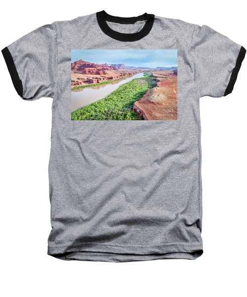 Canyon Of Colorado River In Utah Aerial View Baseball T-Shirt