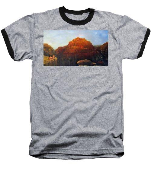 Canyon Overlook II Baseball T-Shirt by Loretta Luglio