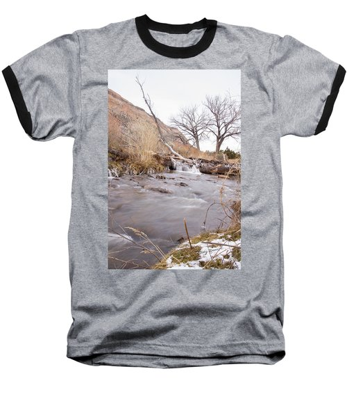 Canyon Stream Falls Baseball T-Shirt