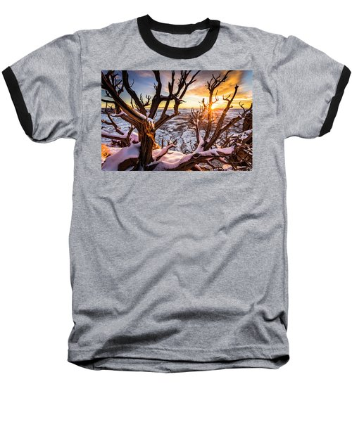 Canyonlands Winter Sunset Baseball T-Shirt