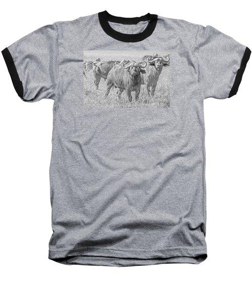 Cape Buffalos In Serengeti Baseball T-Shirt