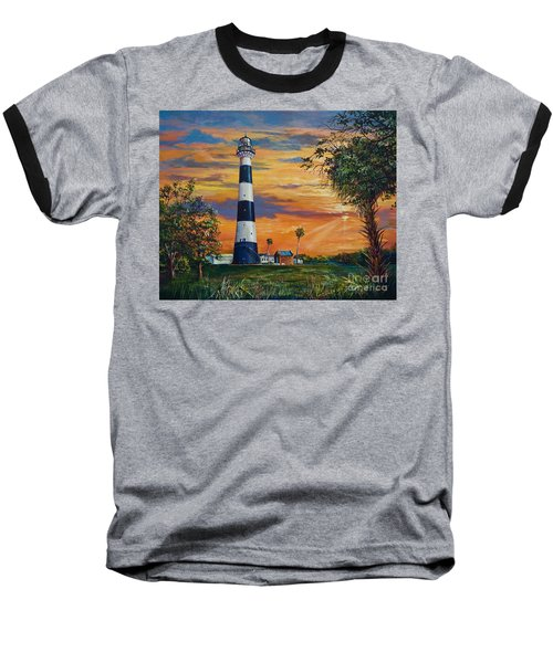 Baseball T-Shirt featuring the painting Cape Canaveral Light by AnnaJo Vahle