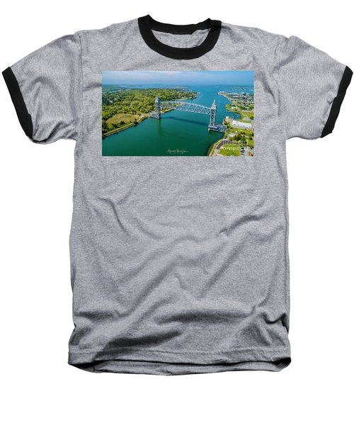 Cape Cod Canal Railroad Baseball T-Shirt