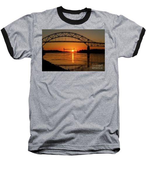 Cape Cod Canal Sunset Baseball T-Shirt
