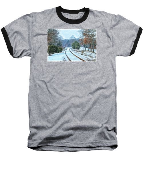 Cape Cod Rail And Trail Baseball T-Shirt by Constantine Gregory