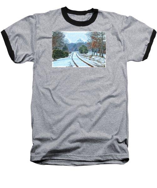 Cape Cod Rail And Trail Baseball T-Shirt