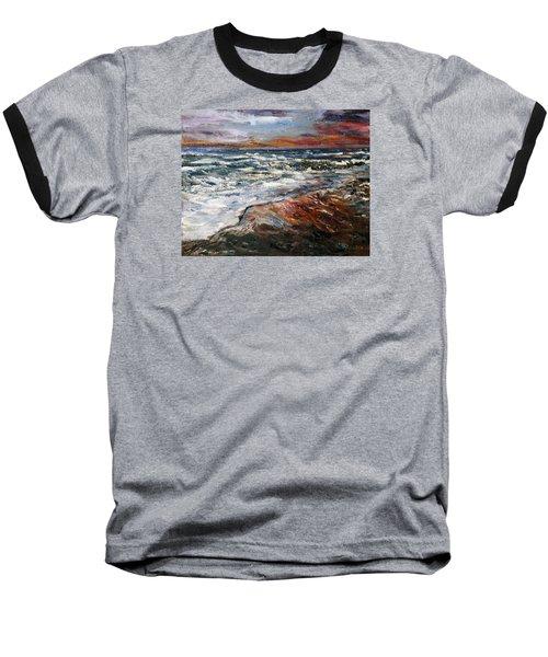Cape Cod Sunset 1 Baseball T-Shirt by Michael Helfen