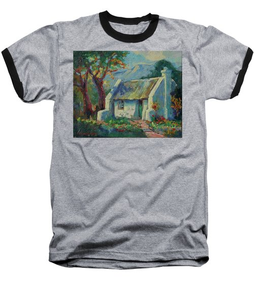 Cape Cottage With Mountains Art Bertram Poole Baseball T-Shirt by Thomas Bertram POOLE