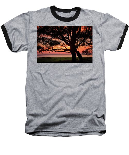 Baseball T-Shirt featuring the photograph Cape Fear Sunset Overlook by Phil Mancuso