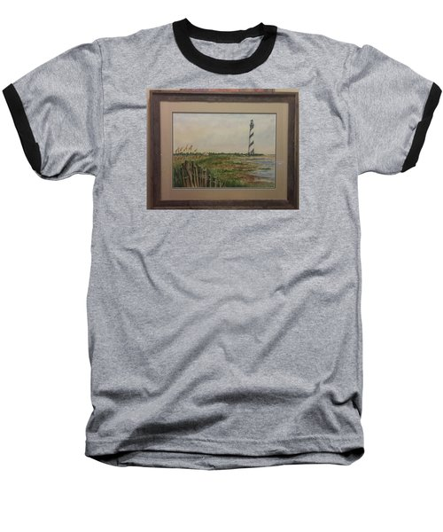 Baseball T-Shirt featuring the painting Cape Hatteras Light House by Richard Benson
