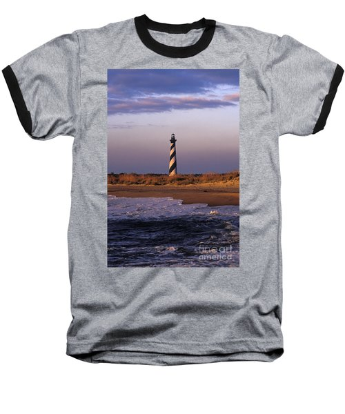 Cape Hatteras Lighthouse At Sunrise - Fs000606 Baseball T-Shirt by Daniel Dempster